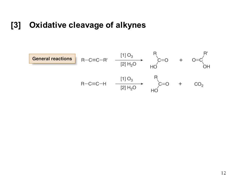 [3] Oxidative cleavage of alkynes